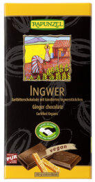 Rapunzel Bio Zartbitter Schokolade Ingwer 55% Kakao 80g