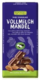 Rapunzel Vollmilch Schokolade mit ganzen Mandeln, 200g...