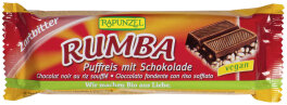Rapunzel Rumba Bio Puffreisriegel Zartbitter 50g