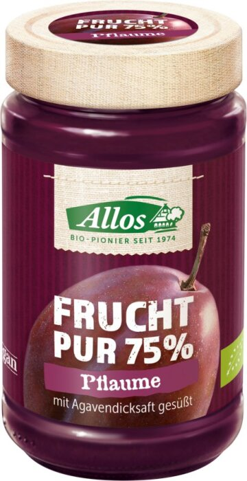 Allos Pflaume Frucht Pur 250g