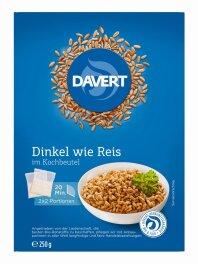 Davert Bio Zart-Dinkel im Kochbeutel 250g
