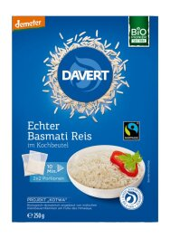 Davert Basmati Reis im Kleinbeutel Demeter 250g