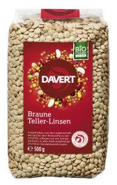 Davert Bio Braune Teller-Linsen 500g