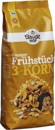 Bauckhof Knusper Frühstück, 3-Korn 225g