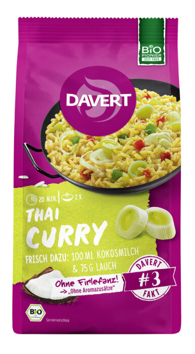 Davert Bio Thai-Curry mit Kokos 170g