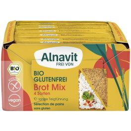 Alnavit Bio Brot Mix mit 4 verschiedenen Sorten 500g