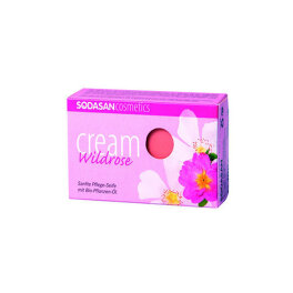 Sodasan Cream Seife Wilde Rose 100g