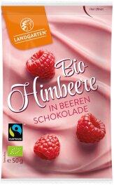 Landgarten Himbeere in Beeren-Schokolade 50g