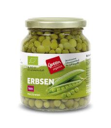 greenorganics Erbsen fein im Glas 350g