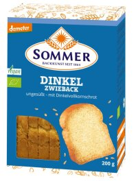 Sommer Demeter Dinkel-Zwieback, ungesüßt 200g Bio