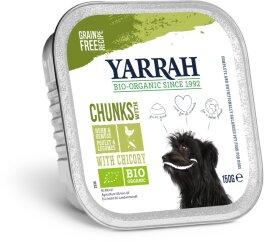 Yarrah Hund Bröckchen Huhn mit Erbsen,Möhr 150 g