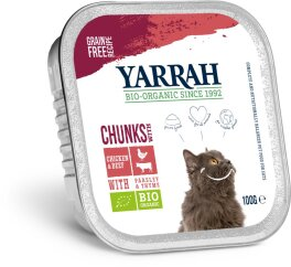 Yarrah Bröckchen Huhn mit Rind 100g