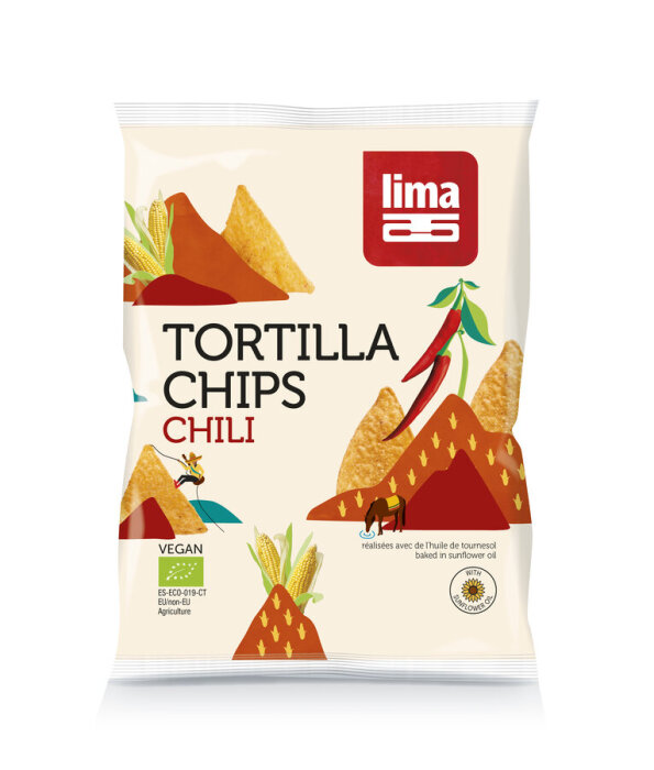 Lima Bio Tortilla Chili Chips 90g