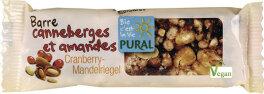Pural Bio Cranberry-Mandel-Riegel 30g