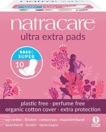 Natracare Ultra Extra Damenbinden Super 10 Stück
