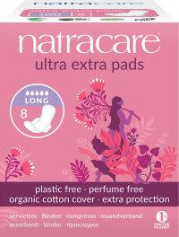 Natracare Ultra Extra Damenbinden Lang 8 Stück