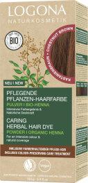 Logona Pflanzen-Haarfarbe Pulver kastanienbraun 100g
