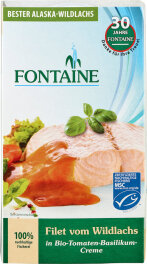 Fontaine Wildlachs-Filet in Tomaten 200g