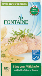 Fontaine Wildlachs-Filet in Senf-Honig 200g