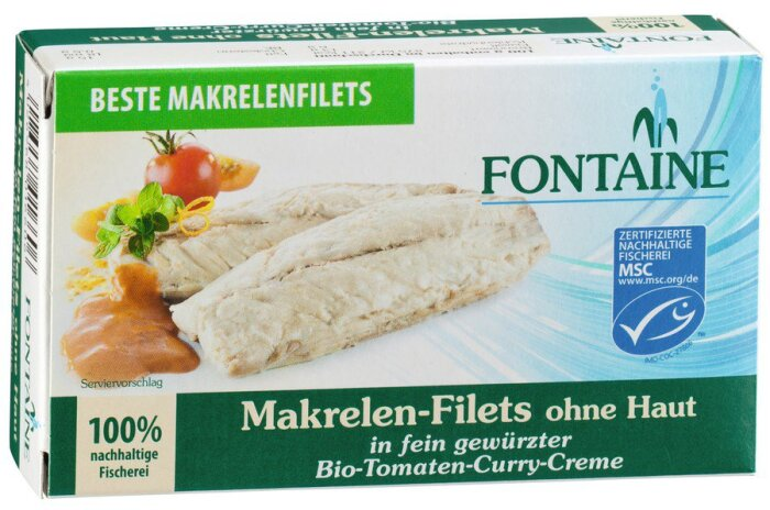 Fontaine Makrelen-Filets Tomat-Curry 125g
