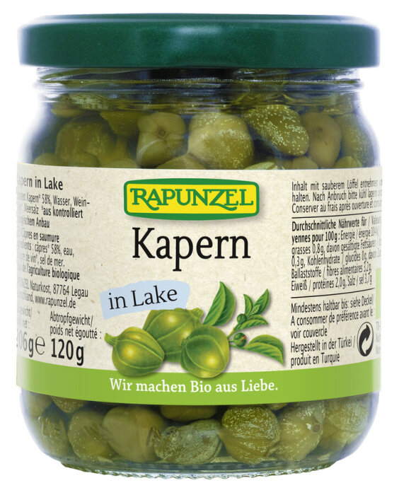 Rapunzel Bio Kapern in Lake 206g