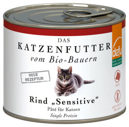 defu - Tierfutter Nassfutter Katze Rind 200g