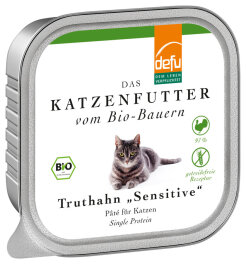 defu - Tierfutter Nassfutter Katze Truthahn 100g