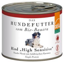defu - Tierfutter Nassfutter Hund Rind High Sensitive 200g