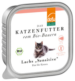 defu - Tierfutter Nassfutter Katze Lachs 100g
