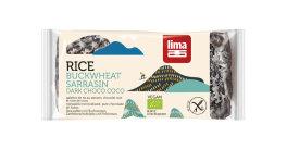 Lima Bio Reiswaffeln mit Buchweizen, Zartbitterschokolade...