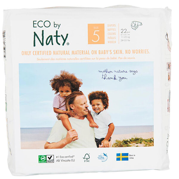 Eco by Naty Babycare Gr/ö/ße 5 23 St/ück 11-25 kg Eco Windeln