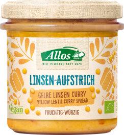 Allos Linsen-Aufstrich Gelbe Linsen Curry 140g