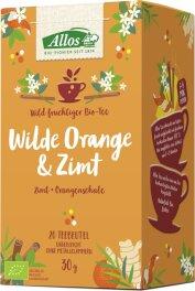 Allos Wilde Orange & Zimt Gewürztee 30g