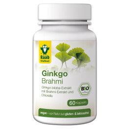 Raab Vitalfood Brahmi Ginkgo Kapeln 60 Stk 33g Bio
