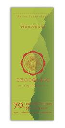 Chocqlate Bio Virgin Schokolade Haselnuss 70g