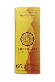 Chocqlate Bio Virgin Schokolade Hanfsamen 70g