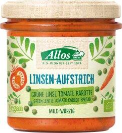 Allos Linsen Aufstrich Grüne Linse Tomate 140g bio