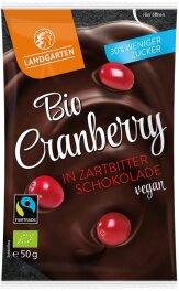 Landgarten Cranberry in Zartbitter-Scho 50 g