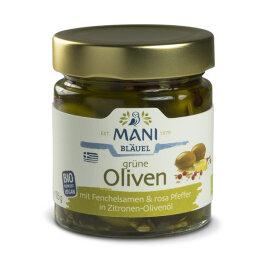 Mani Bläuel Grüne Oliven Fenchelsamen und rosa...