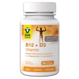 Raab Vitalfood Vitamin B12 + D3, 60 Lutschtablette 90 g