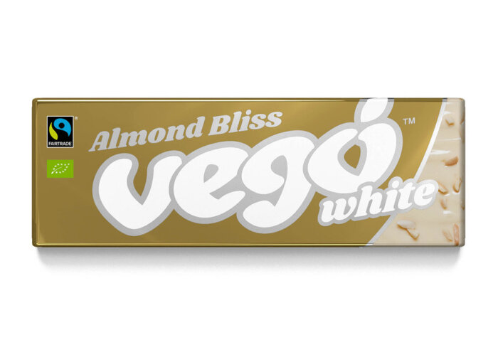 Vego Chocolate White Almond Bliss weiß mit Mandeln 50g Bio