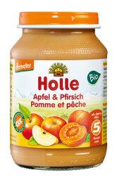 Holle Baby Food Pfirsich & Apfel 190g