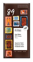 Vivani Edel Bitter Schokolade 89 % Cacao P 80 g