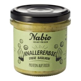 Nabio Protein Aufstrich Erbse Basilikum 140 g