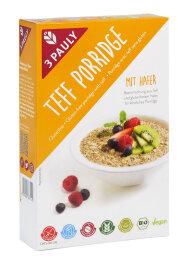3 Pauly Teff Porridge Hafer BIO glutenfrei 250 g