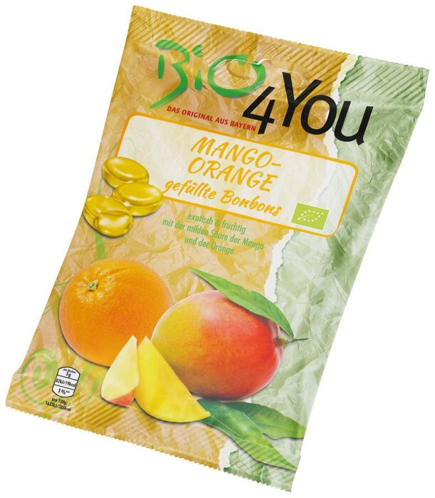 Bio 4You Mango-Orange Bonbons 75 g