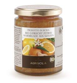 Agrisicilia 3-Frucht Zitrusmarmelade Bio 360g