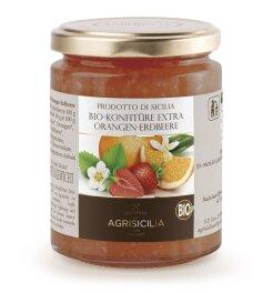 Agrisicilia Orangen-Erdbeeren-Konfitüre Bio 360g