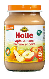 Holle Baby Food Apfel & Birne 190g