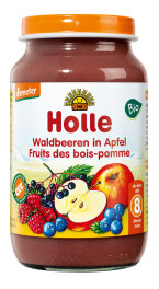 Holle Baby Food Bio Waldbeeren in Apfel demeter 220g